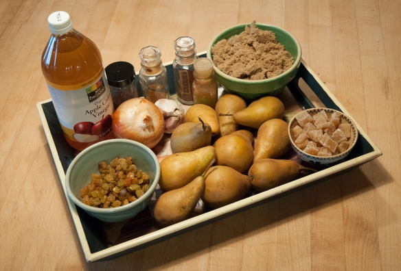 Pear chutney tray