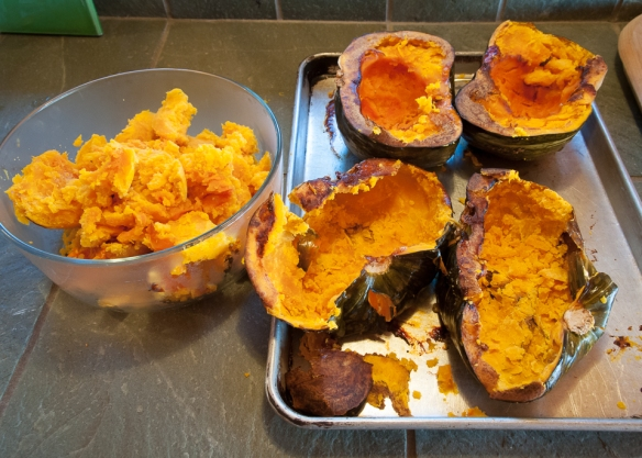 Winter squash roasted