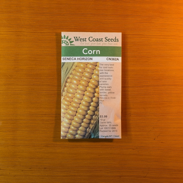 Seed packet corn