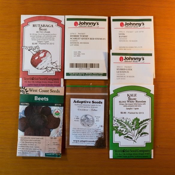 Seed packets, roots