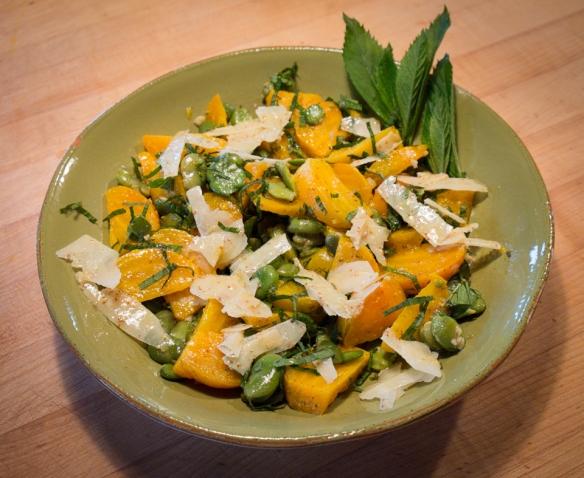 Fava beet salad