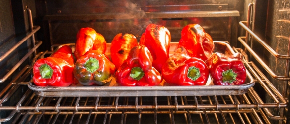 Peppers broiling