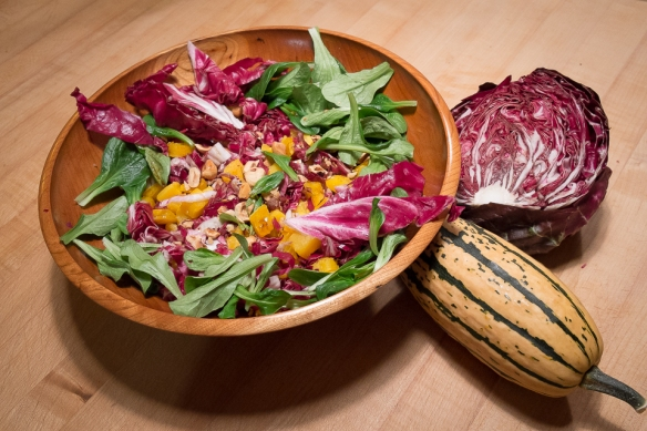Radicchio salad in bowl