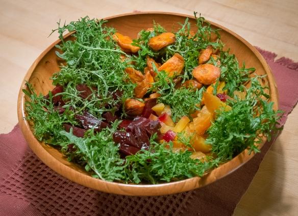 Beet, Carrot, Mustard salad
