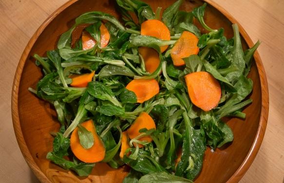 Persimmon Mache salad