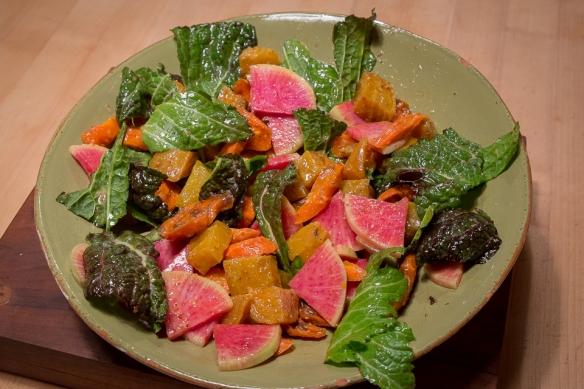 Radish salad w: dressing