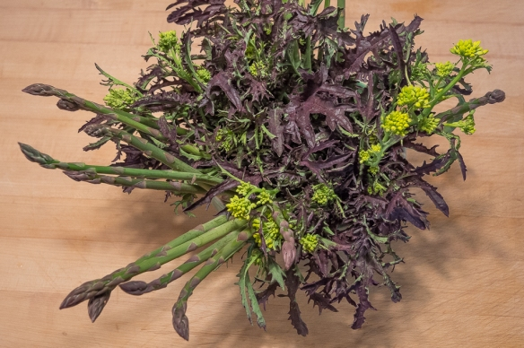 Asparagus mustard top bouquet