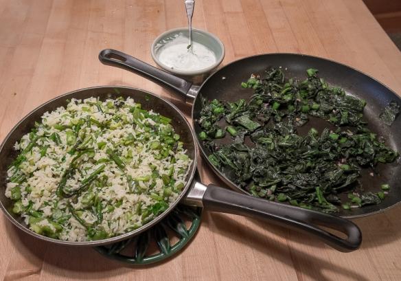 Pilaf in pan