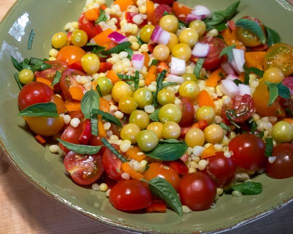 Ground cherry salsa salad