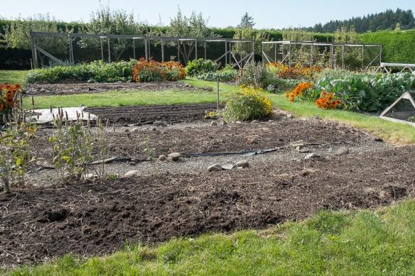 Garden fall soil