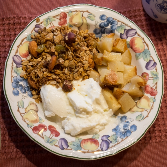 Pears roasted granola