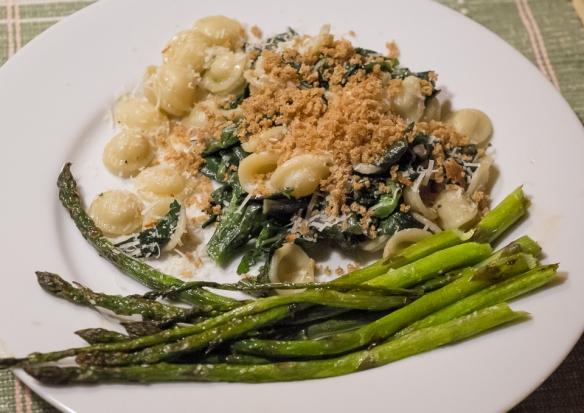 Raab asparagus dinner