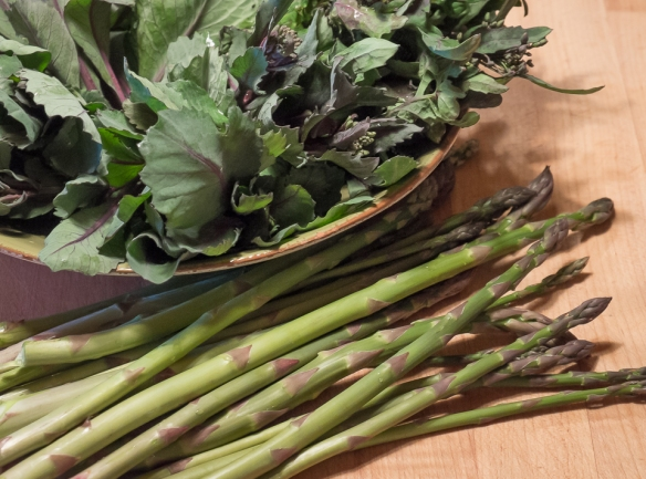 Raab asparagus stilllife