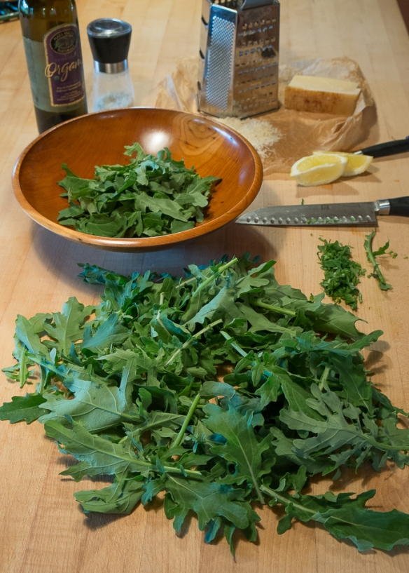 Kale salad stilllife