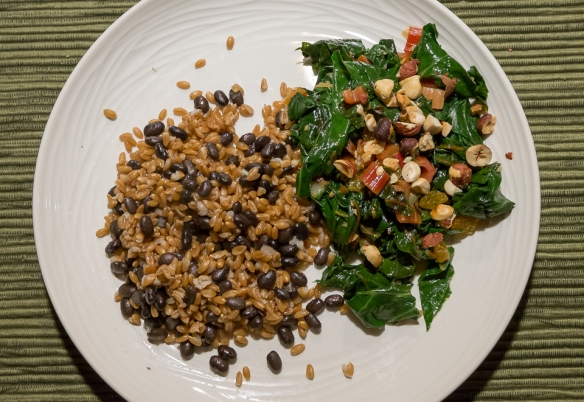 Beans and farro