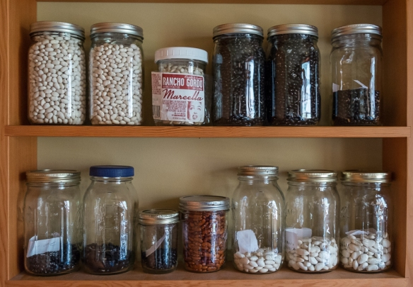 Beans in pantry