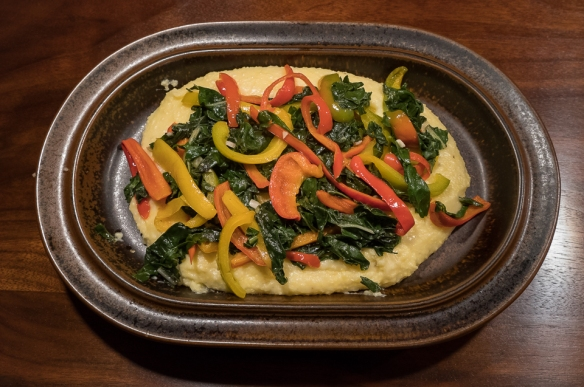 polenta-with-peppers-greens