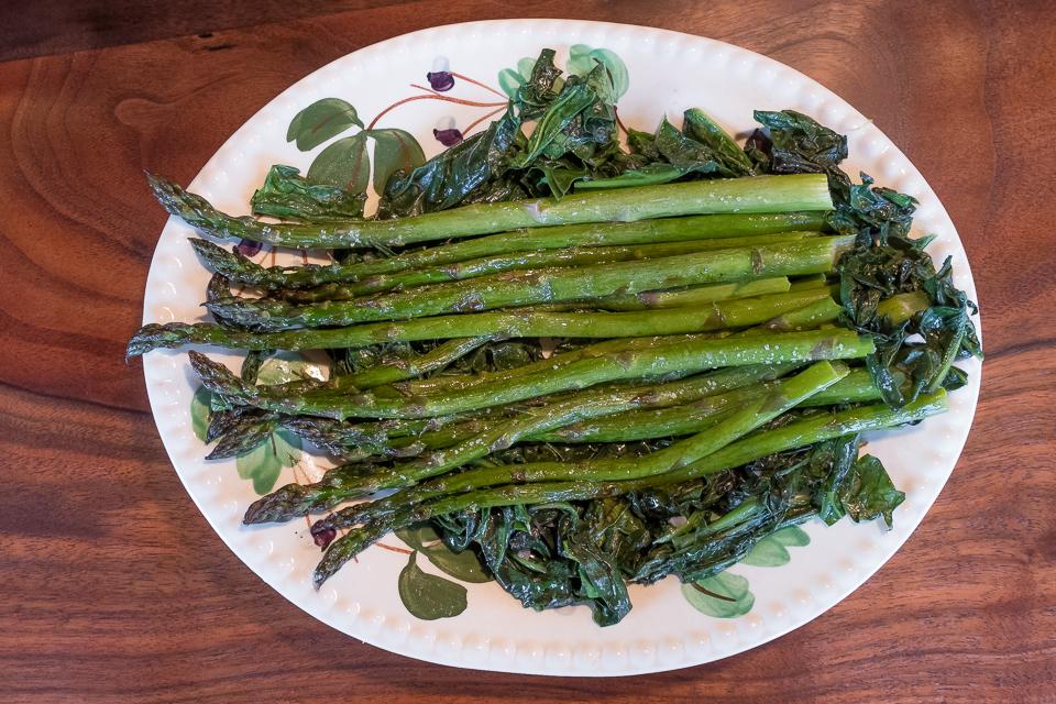Red Mustard & Asparagus platter
