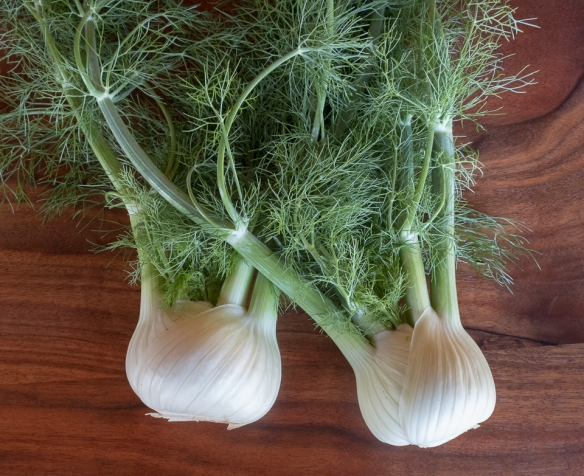Fennel:fronds on table