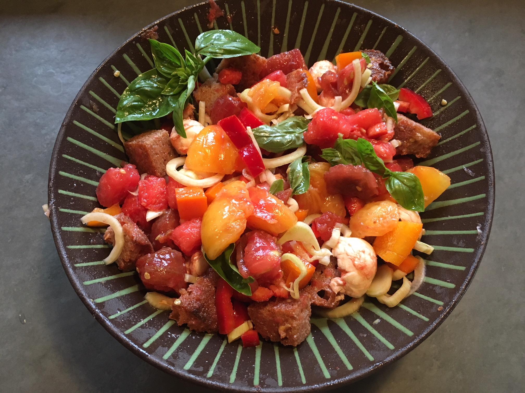 Tomato bread salad 8:18