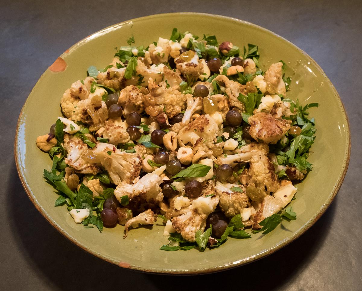 Cauliflower Ottolenghi salad