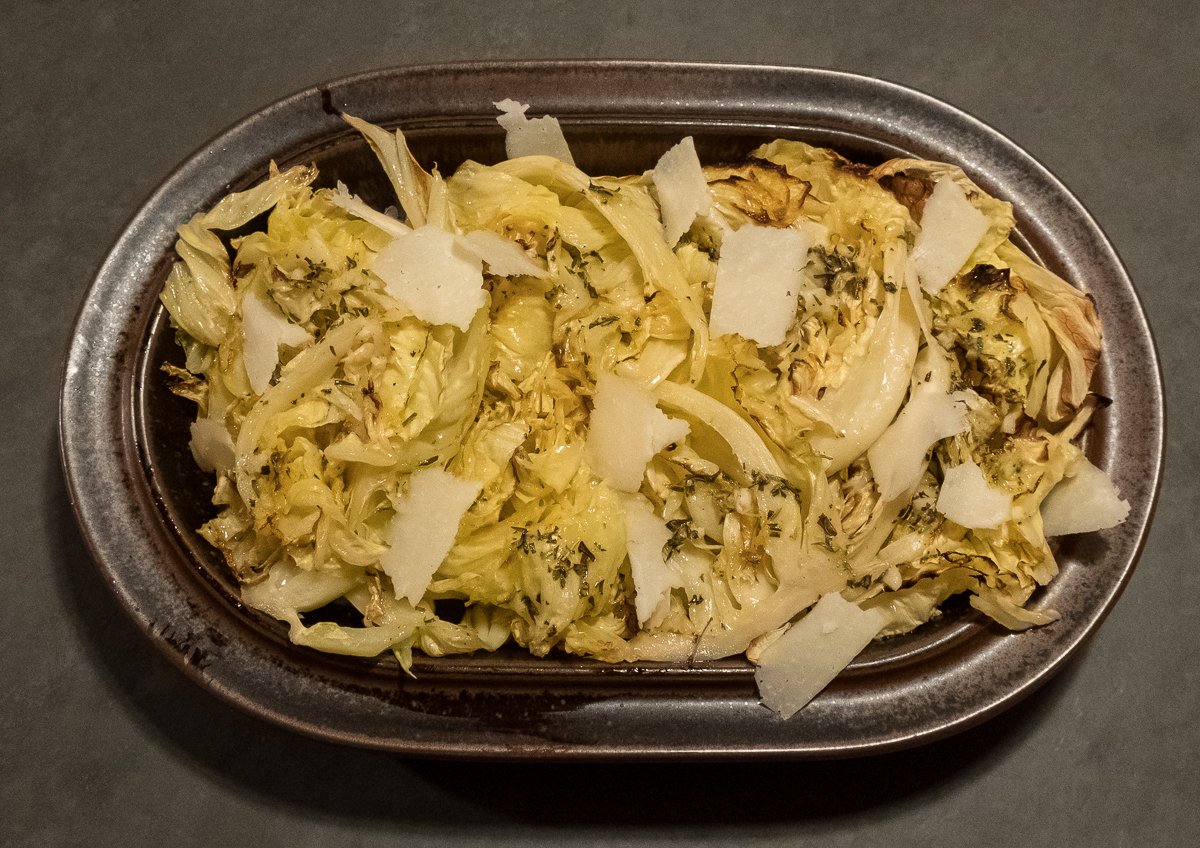 Cabbage brown plate 12:18