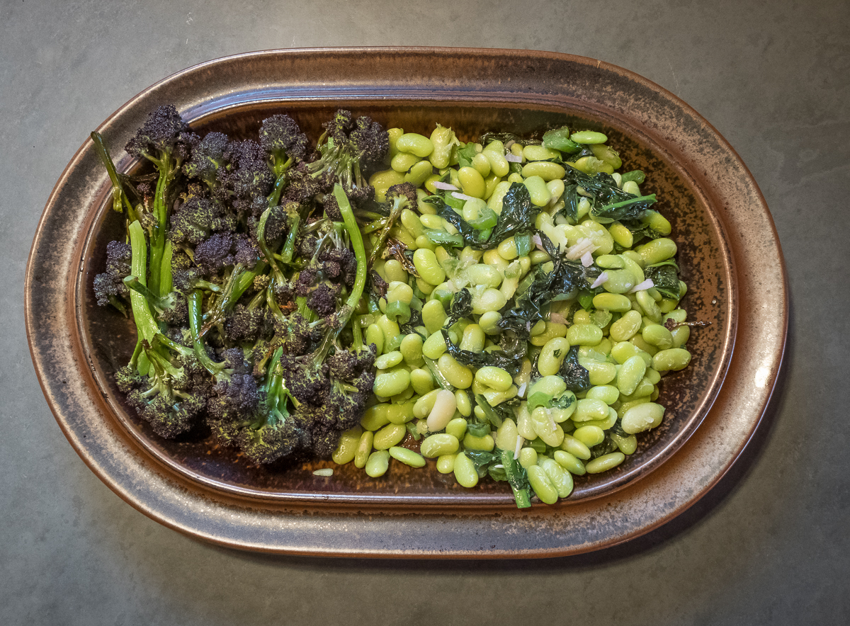 Broccoli PSB roasted with soissons verte