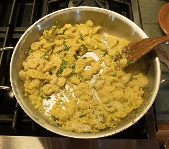 Corn Pasta sauce cooking