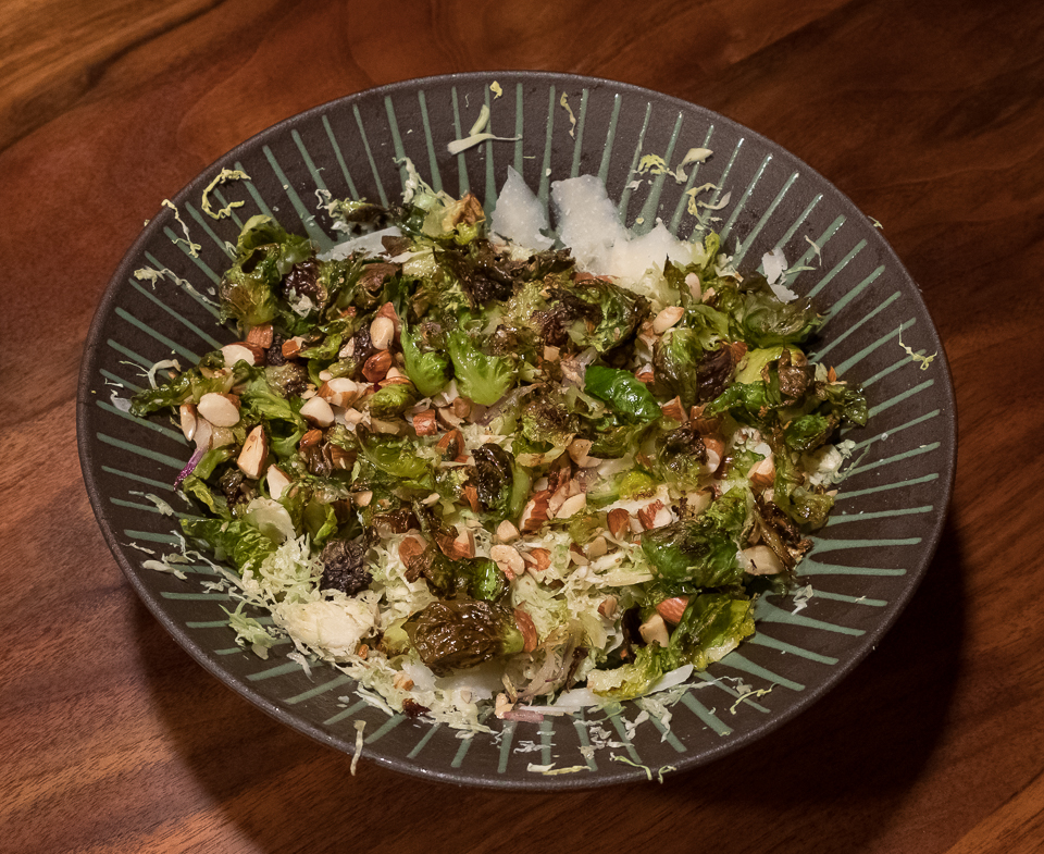 Brussels sprouts salad finished