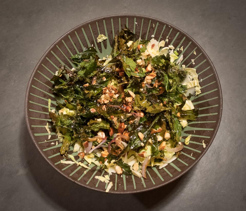 Cabbage Kale salad finished