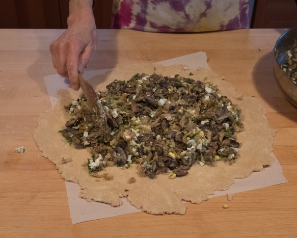 Cabbage galette assembly