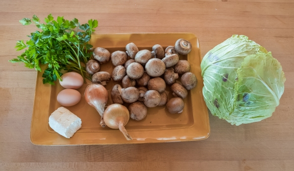 Cabbage galette ingredients