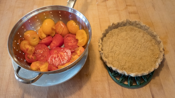 tomato tart crust and tomatoes